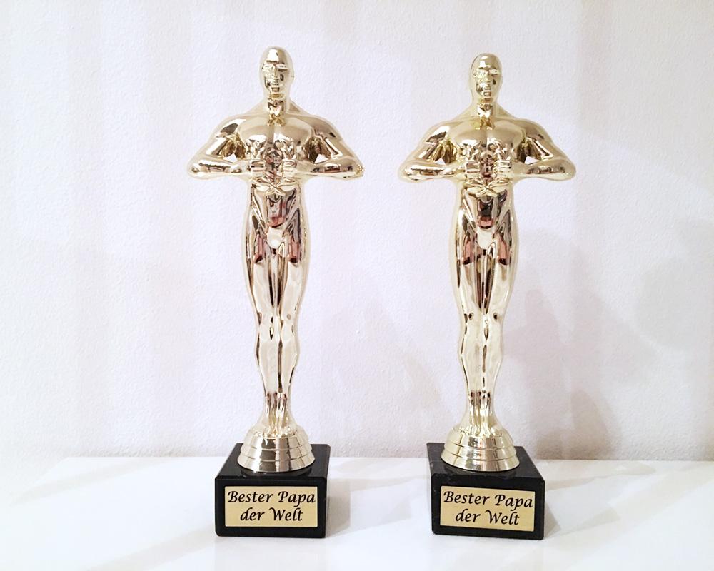 """Oscar, von Kinder für """"Bester Papa der Welt"""""""